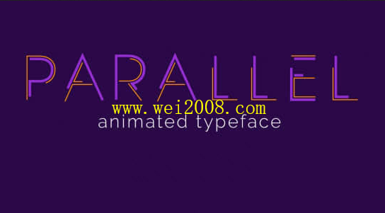 Parallel Animated Typeface免费版